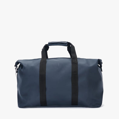 Minimalist sports bag for travel in navy blue waterproof with handles