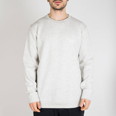 Grey sweatshirt with a round neck and '+351 detail on the front.