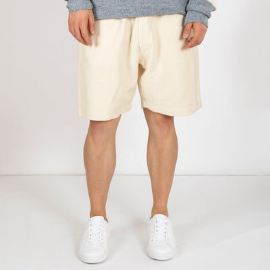 White shorts made from a unique 100% cotton jersey.