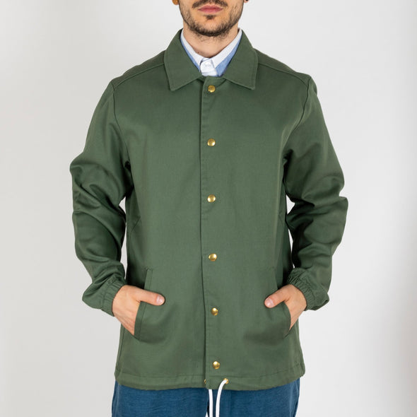 Green version of the coach jacket.