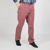 Old pink regular slim fit chinos with a belt.