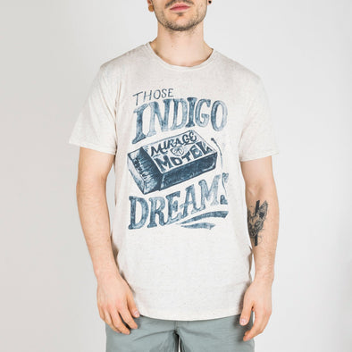 T-shirt made in a nepped fabric, featuring a washed look, printed artwork and a crew neck.