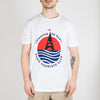 Crewneck t-shirt in soft cotton jersey with a large seasonal serigraphy.