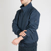 Dark navy blue jacket with inner  beathable  mesh  and  blue  chambray  lining.