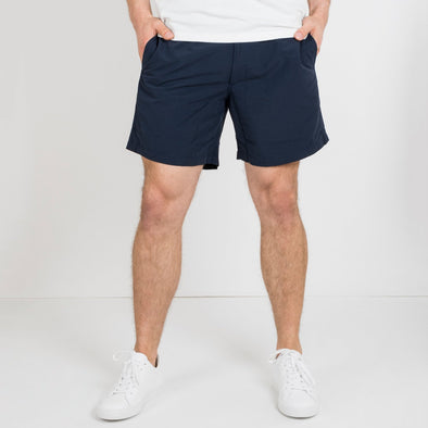 Nomad swim shorts in a rich dark navy.