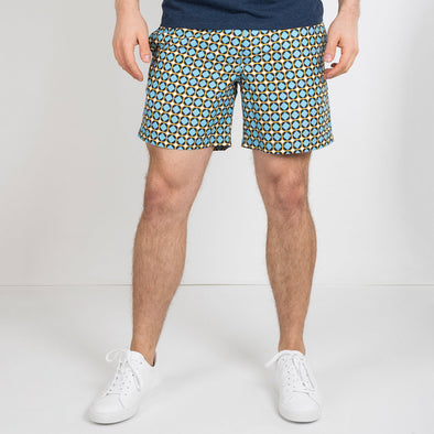 Nomad swim shorts in a Antoni Gaudi inspired print.