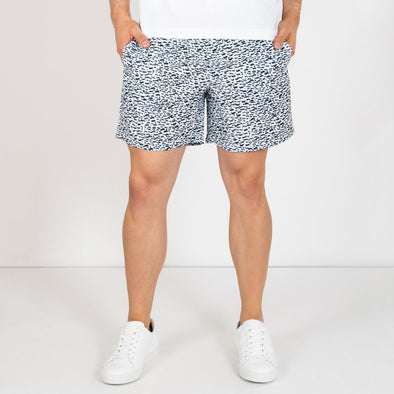 Nomad swim shorts in a greek island inspired print.