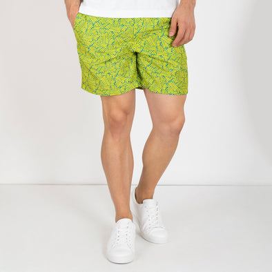 Nomad swim shorts in brazilian carnival inspired print.