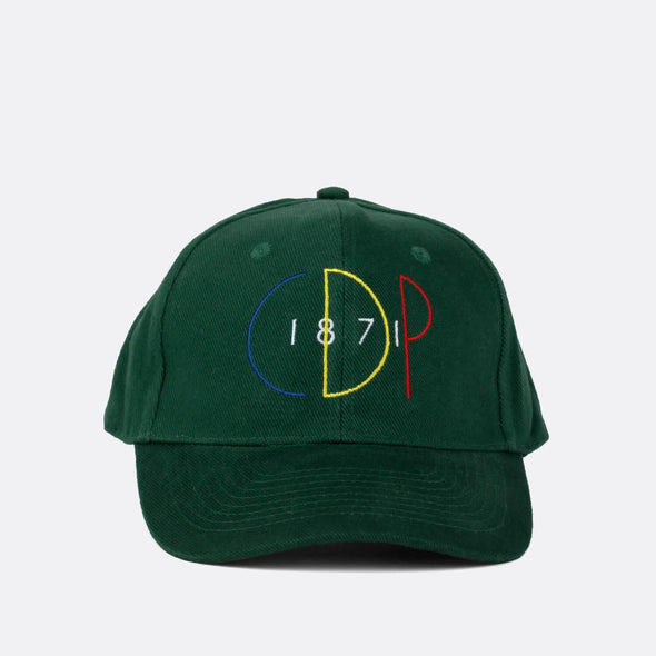 "6 pannels baseball cap in cotton with classic ""CDP"" embroidery on front."