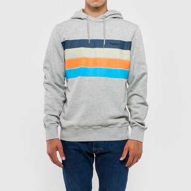 Regular fit hoodie with a multicolored chest print.