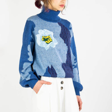 Abstract Floral Knit