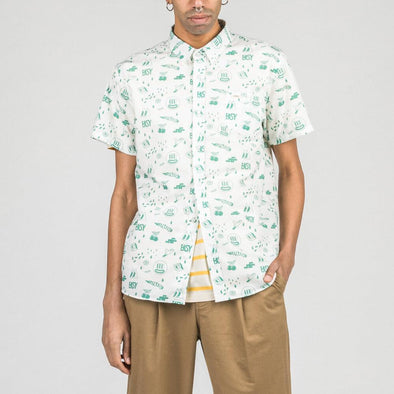 Short sleeved shirt with exclusive all-over print by Yeye Weller.