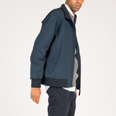 Casual navy blue jacket with inner beathable mesh.