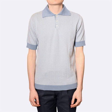 Light weight mid-weight short sleeve polo with contrast hem, cuffs and collar.
