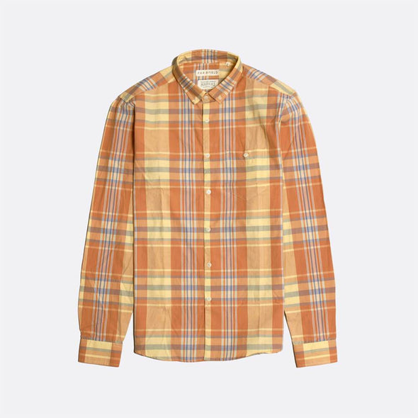 Casual long sleeved cotton shirt in a classic check design.