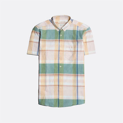 Casual short sleeved cotton shirt in a classic check design.