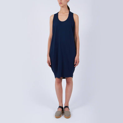 Comfy navy blue sleeveless dress.