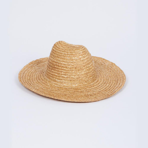 Natural straw hat.