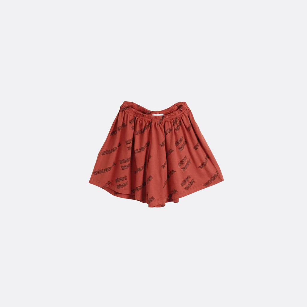 Rust shorts with elasticated waistband.