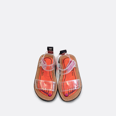 See through japanese inspired flat sandals.