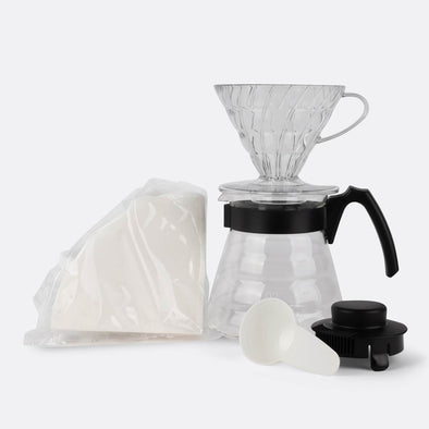 V60 Japanese kit contains the necessary tools for brewing a consistent coffee at home day after day.