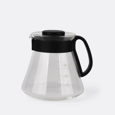 The V60 Server, compatible with all Hario drippers, the will ensure great thermal stability with a rubber insert lid to help retain the heat.