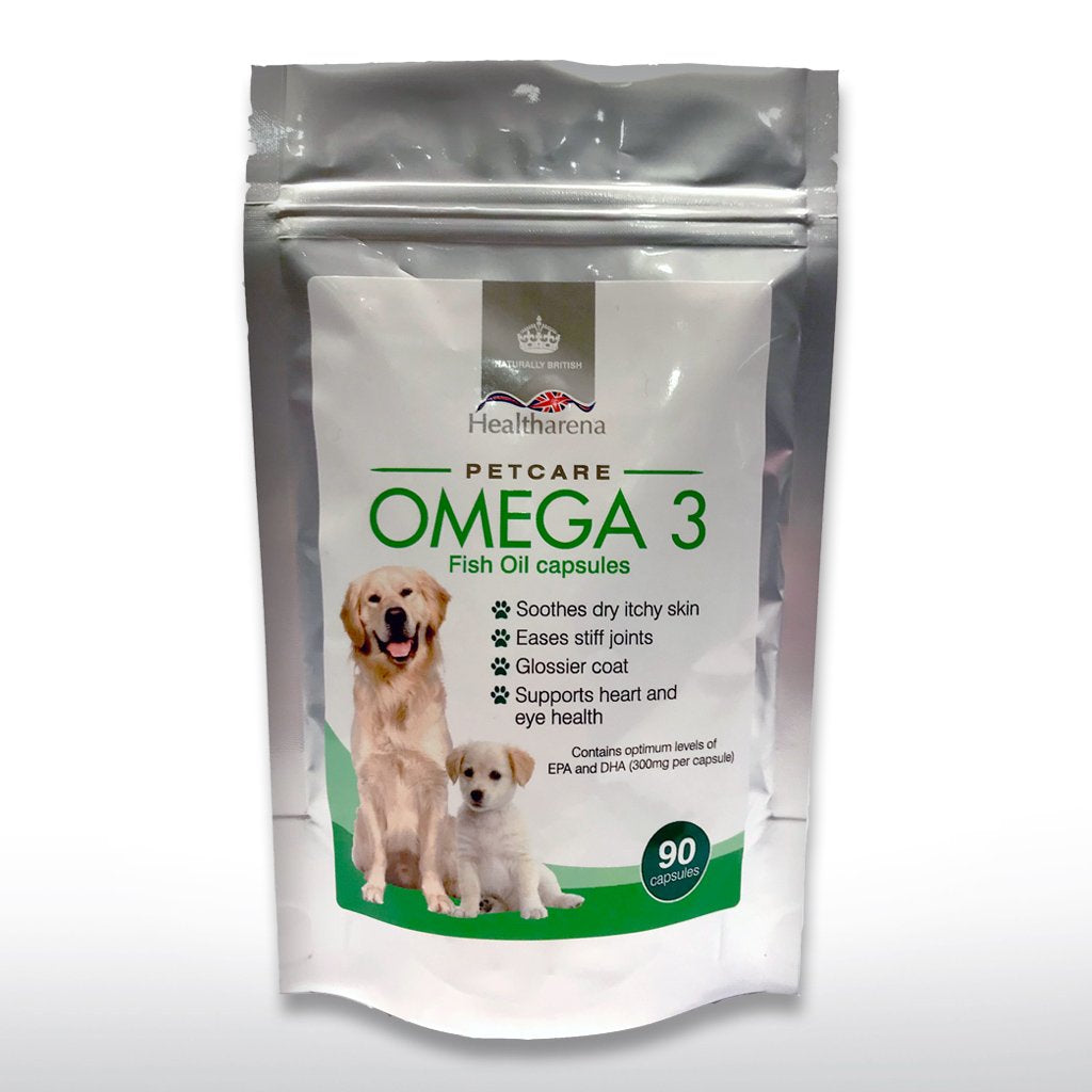 Omega 3 Fish Oil for Dogs 1000mg 90 Capsules