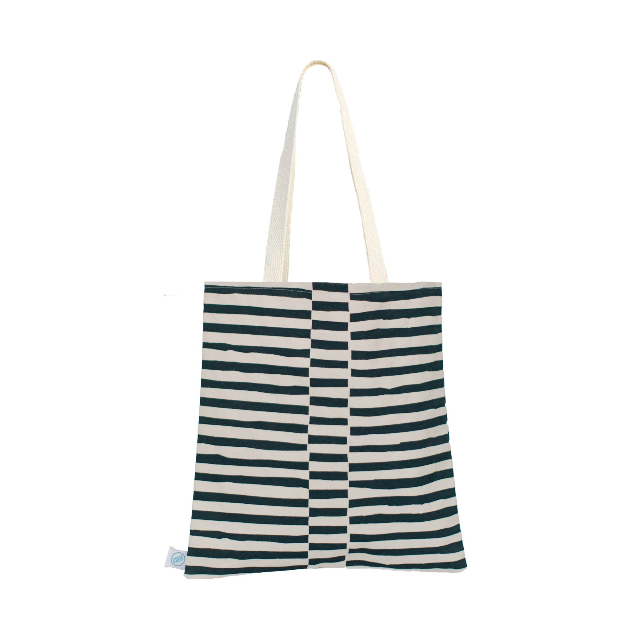 Staggered Lines Flat Tote