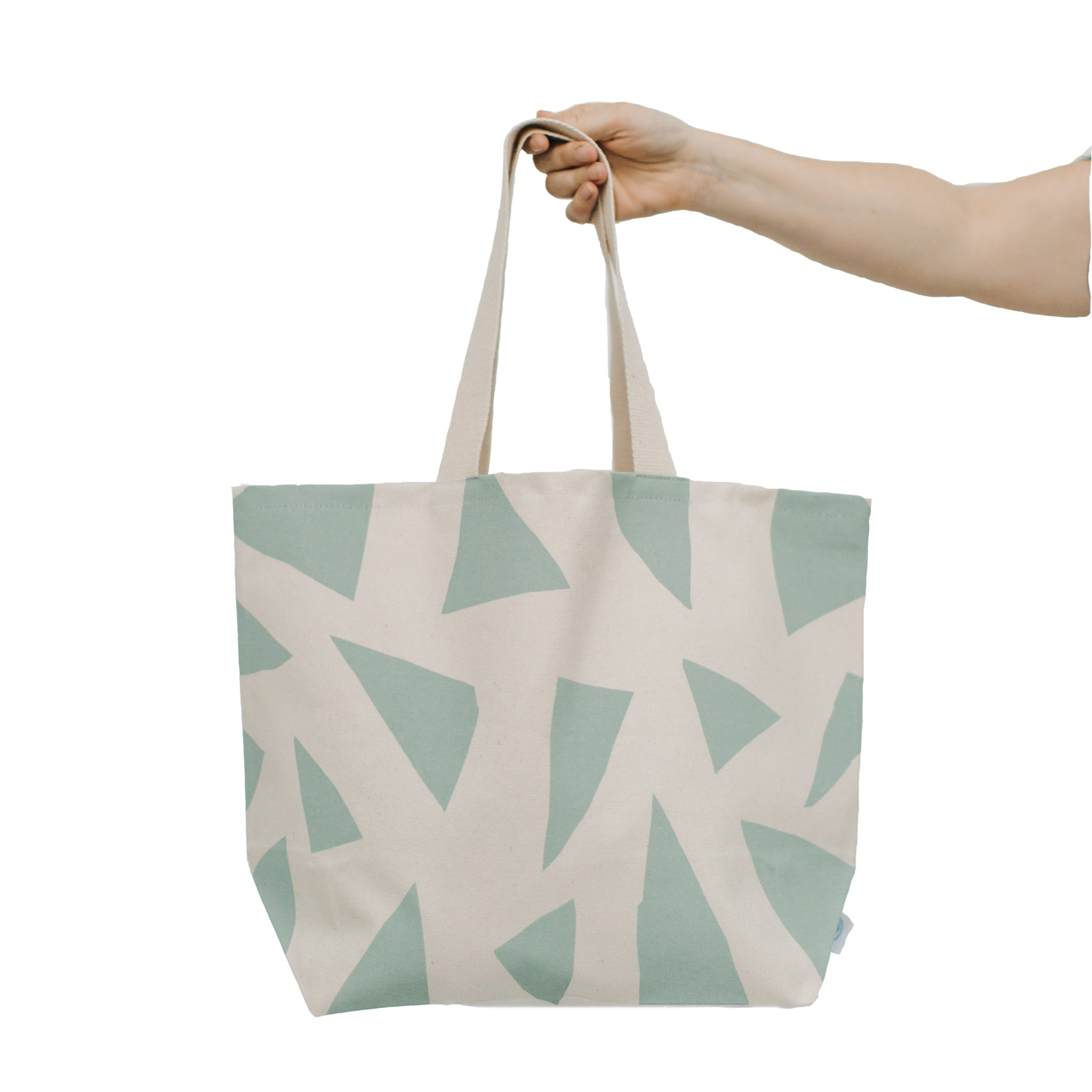 Large Triangles Wide Tote