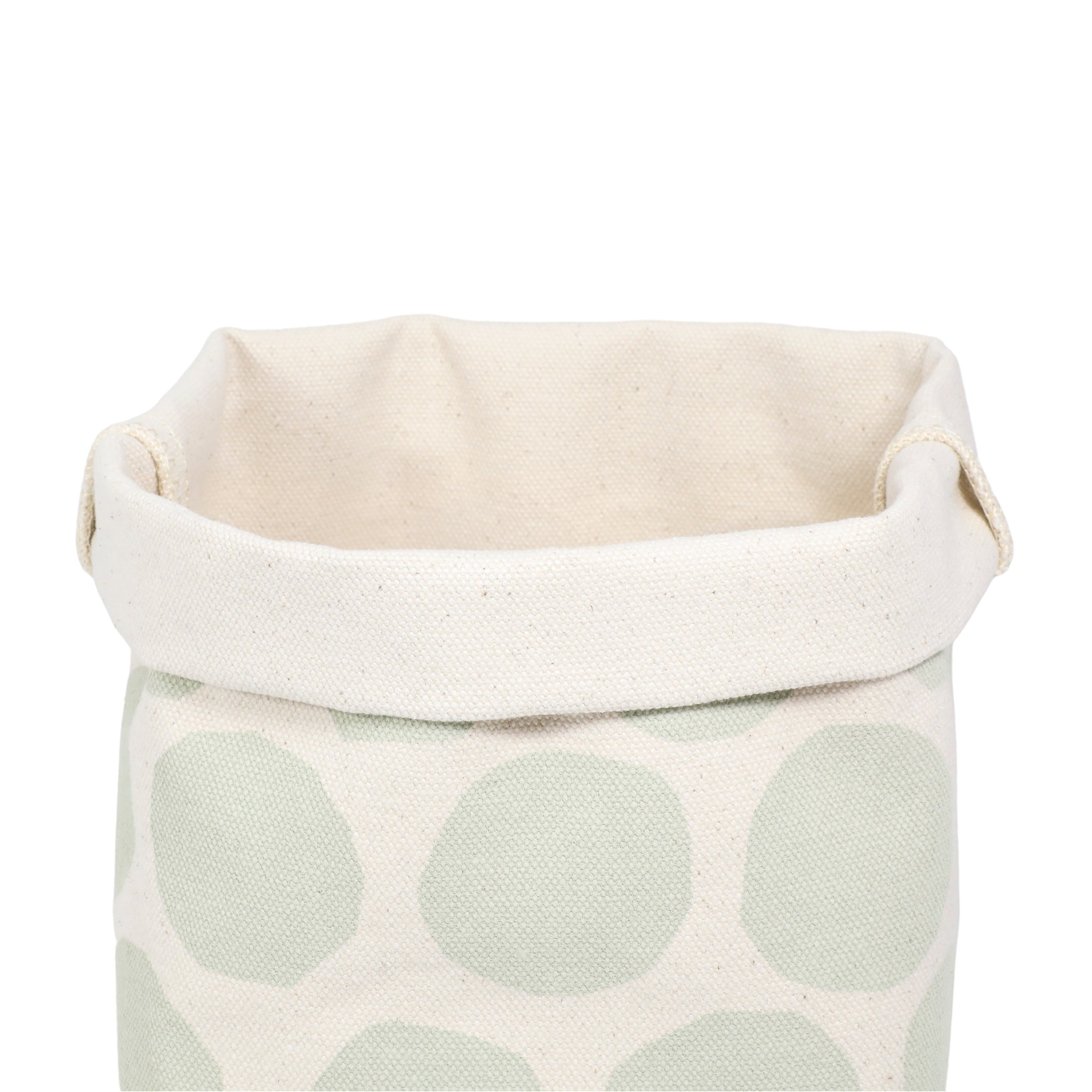 Large Circles Canvas Bin