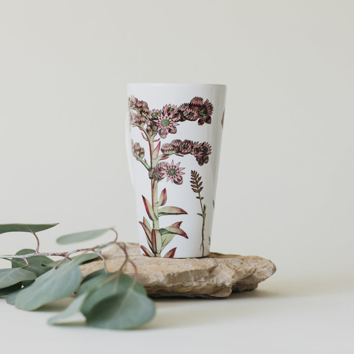 botanical illustration latte mug 1