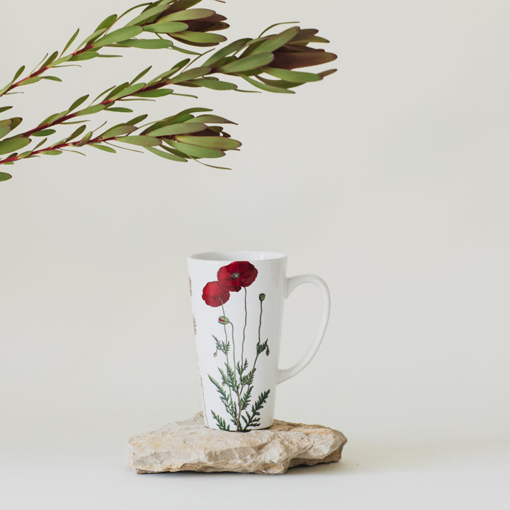 botanical illustration latte mug 2