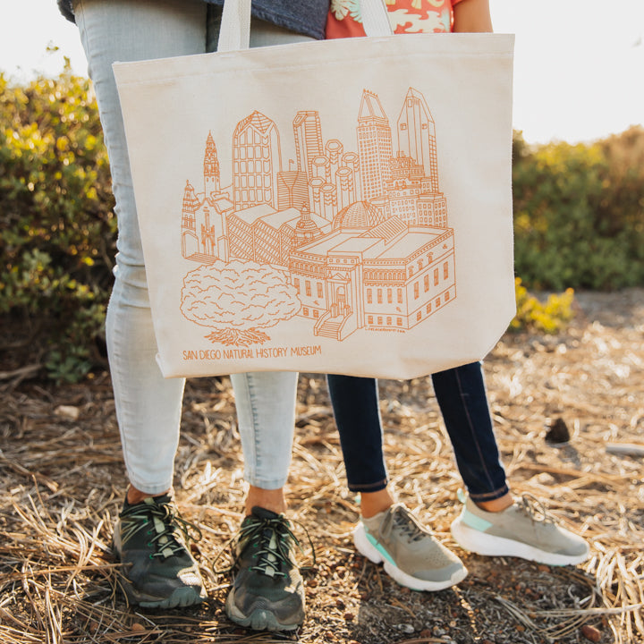 building sketch canvas tote bag 1