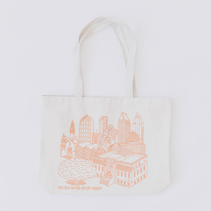 building sketch canvas tote bag 2
