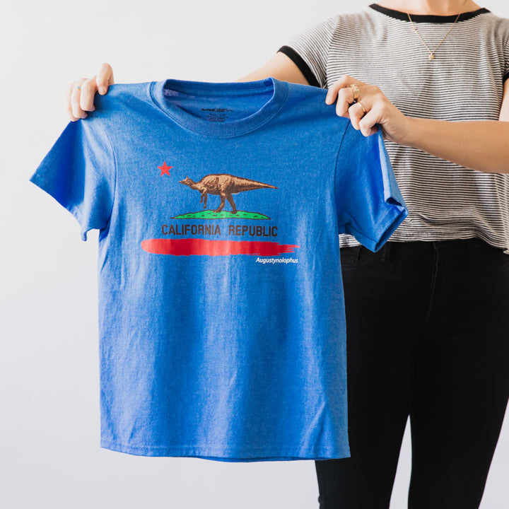 california republic dino youth t shirt 1