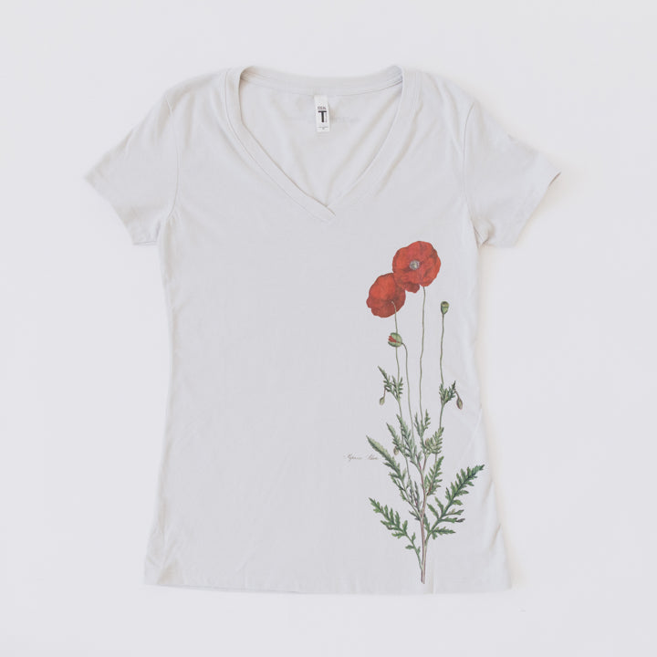 red poppy womens t shirt 2