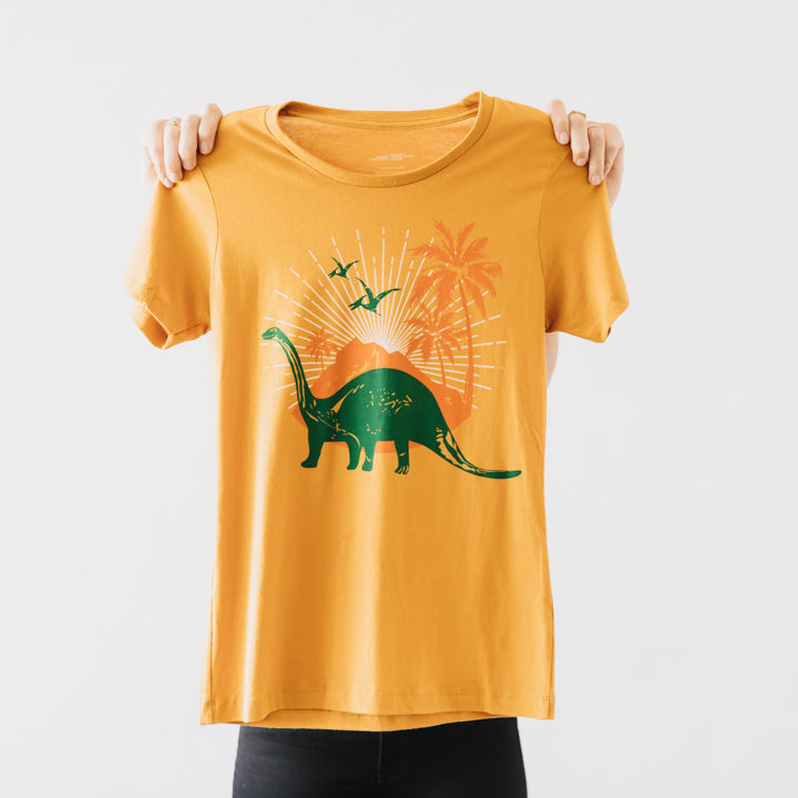 retro dinosaur womens t shirt 1