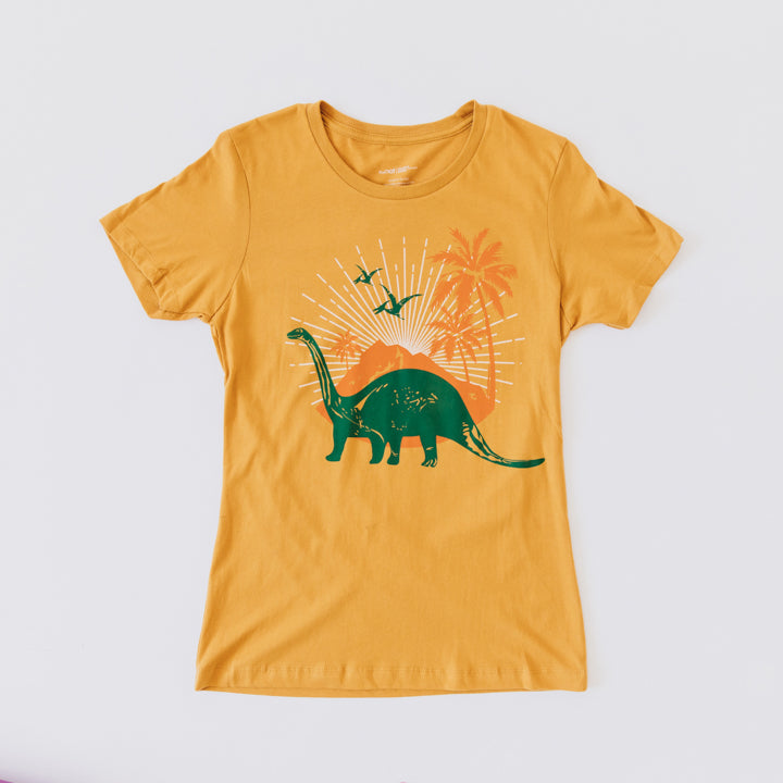 retro dinosaur womens t shirt 2