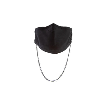 Havana Cotton Mask in Black + Adana Chain in Black