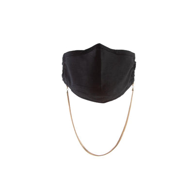 Havana Cotton Mask in Black + Alexandria Chain in Gold