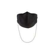 Havana Cotton Mask in Black + Casablanca Chain in Pearl