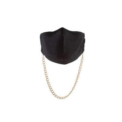 Havana Cotton Mask in Black + Madrid Chain in Gold