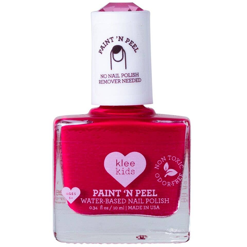 Klee Kids Water-Based Peelable Nail Polish - Red
