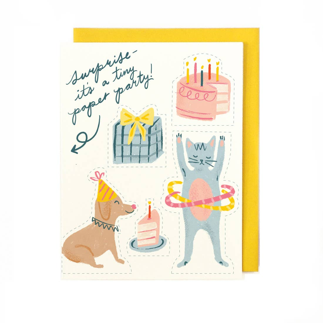 Tiny Paper Party Card