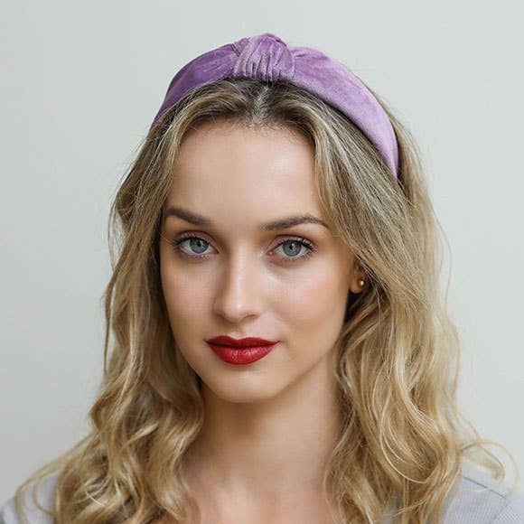 Lilac Knotted Headband