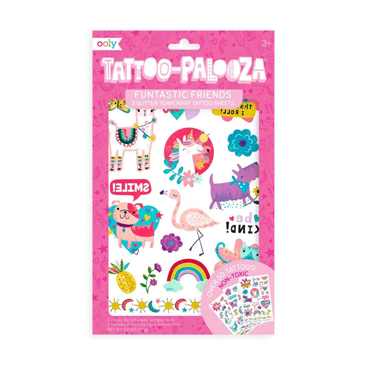 Tattoo Palooza Temporary Glitter Tattoo: Funtastic Friends
