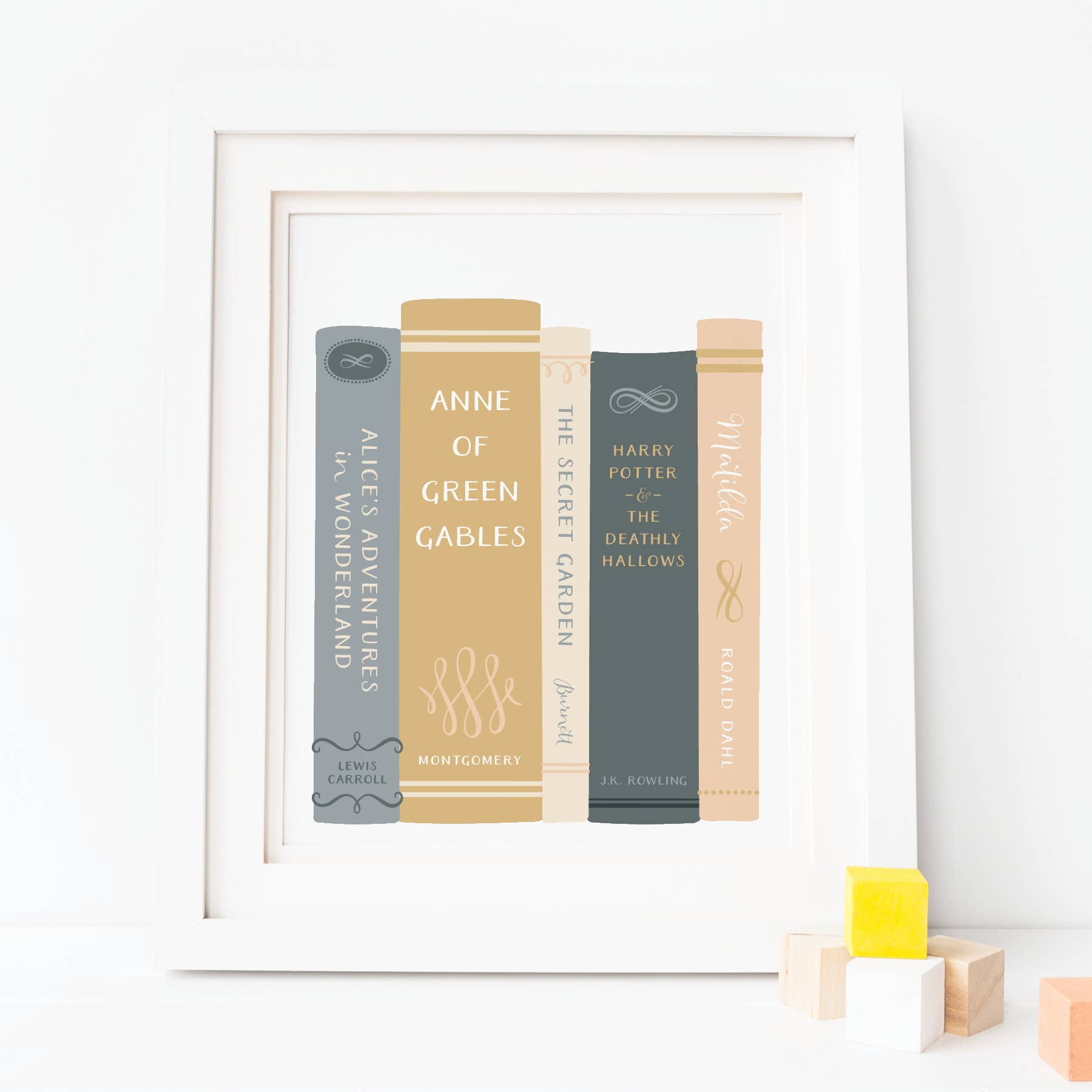Girls Books Art Print