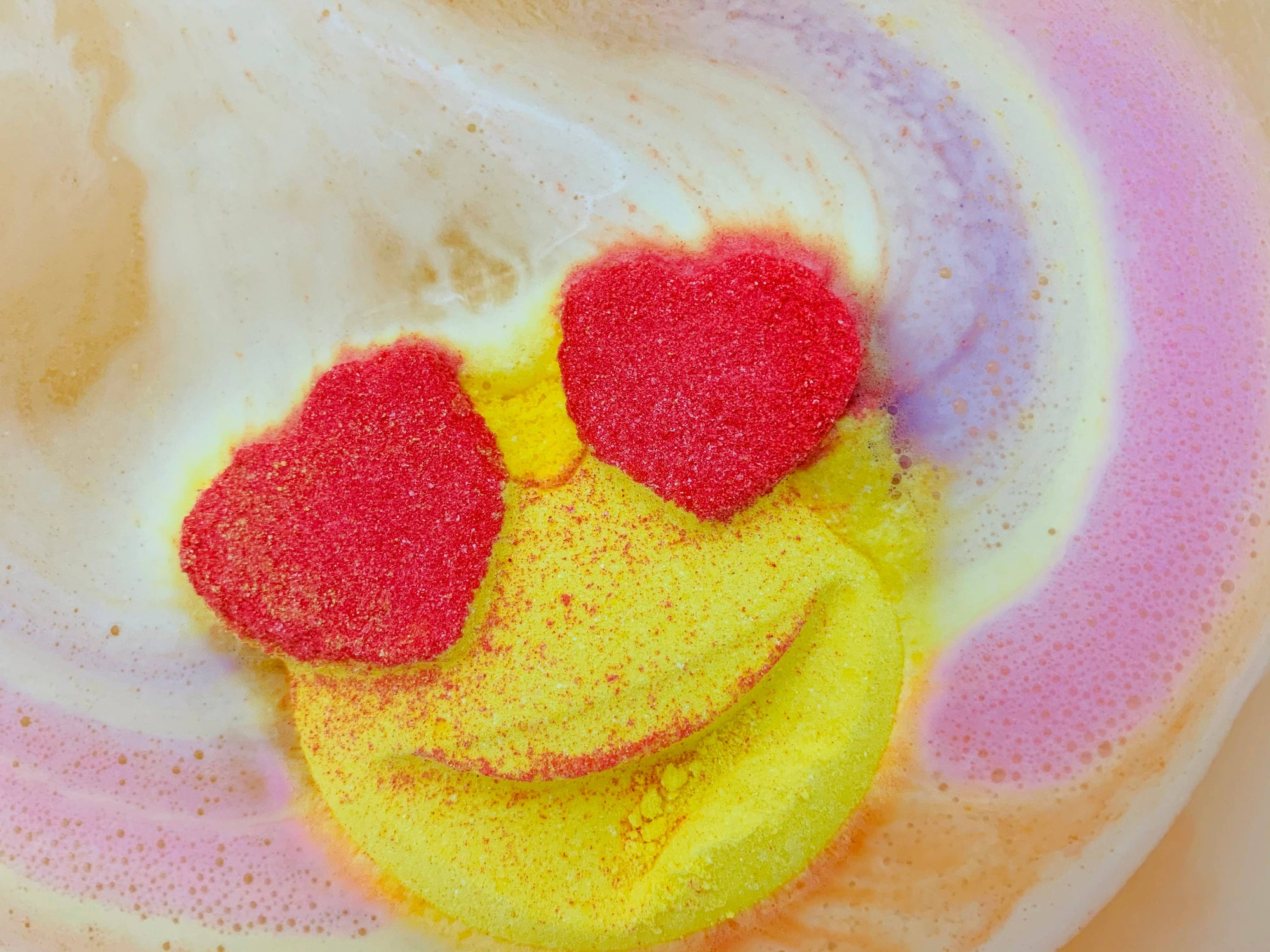 Fun + Fruity Rainbow Emoji Bath Bomb