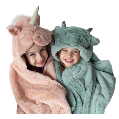 Plush Unicorn Hooded Blanket
