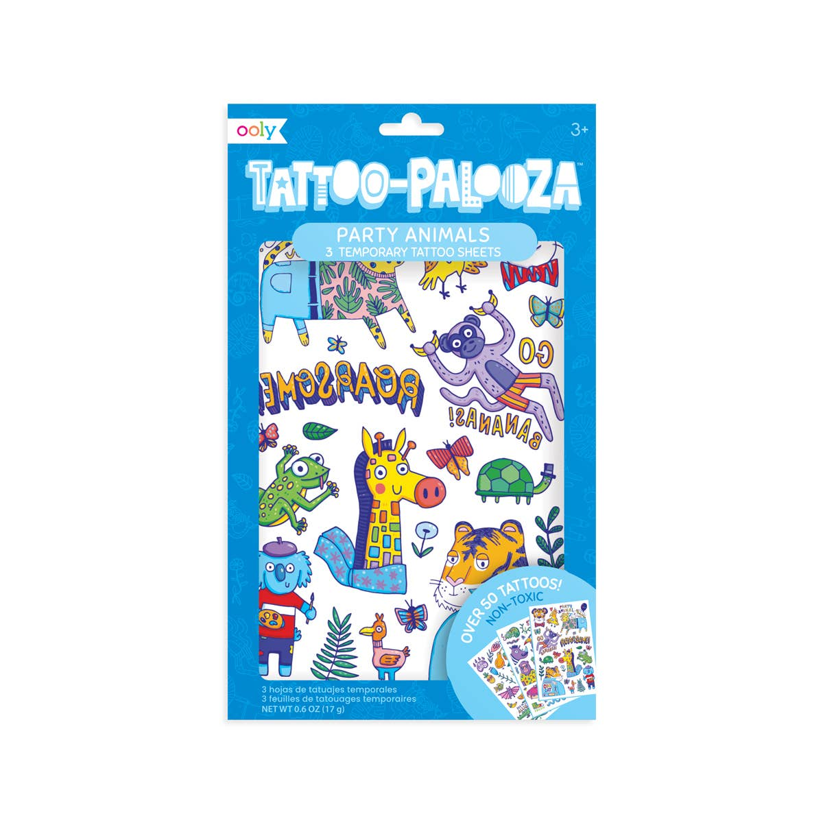 Tattoo Palooza Temp Tattoos - Party Animals